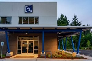 HD Fowler Front Entrance - Completed Industrial Project