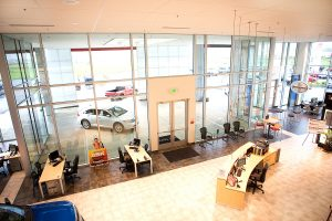I5 Toyota Chehalis, WA Big open lobby - Completed Kaufman Project