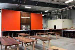 Matchless Brewing Seating area - Completed Commercial Project