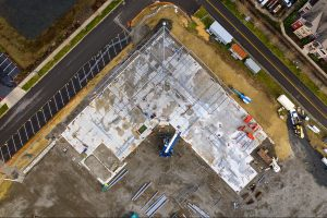 Olympia Orthpaedic Aerial of Steeling Framing - Kaufman Medical Project