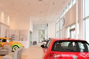 Volkswagen of Olympia, WA Interior and lobby - Completed Project